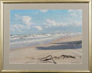 Gotowy obraz-Plaża w Jastrzębiej Górze